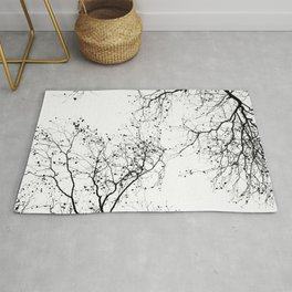 BLACK BRANCHES 2 Rug