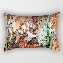 Colored Wood One Rectangular Pillow