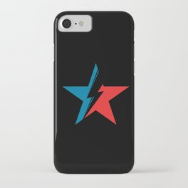 Bowie Star black iPhone Case
