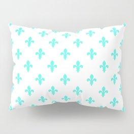 Fleur-de-Lis (Turquoise & White Pattern) Pillow Sham