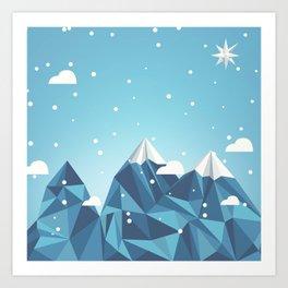 Cool Mountains Art Print