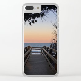 Evening stroll, anyone? Clear iPhone Case