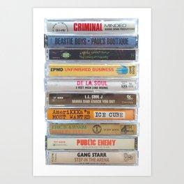 Hip Hip Cassettes Art Print