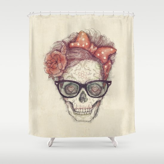 Hipster Girl is Dead Shower Curtain