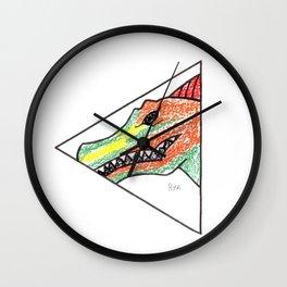 Peeking Spinosauras Wall Clock