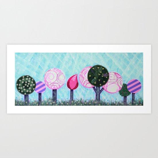 Pink grove Art Print