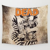 the walking dead Wall Tapestries featuring THE WALKING DEAD - SIEGE by Zorio