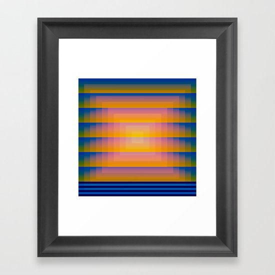 Gradient Fades v.1 Framed Art Print