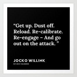 16  | Jocko Willink Quotes | 191106 Art Print