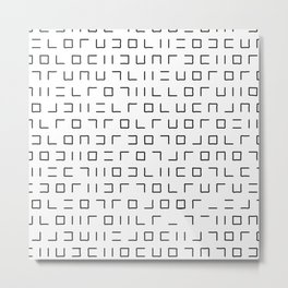 Code Breaker - Abstract, black and white, minimalist artwork Metal Print