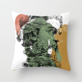 Neptune with NOODDOOD Throw Pillow