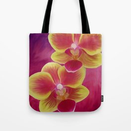Sunset Orchids Tote Bag