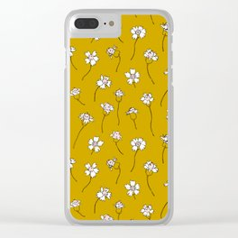 Dainty Wildflowers - Mustard & Blush Clear iPhone Case