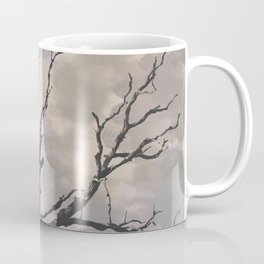 Stormy Skies, Abstract Art Tree Storm Clouds Coffee Mug