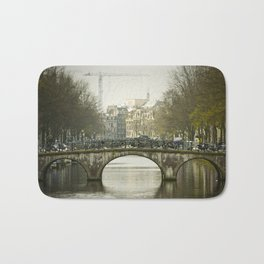 Bike Bridge Amsterdam Bath Mat
