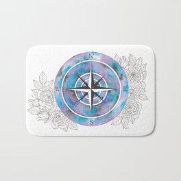 Galaxy Compass Rose Bath Mat