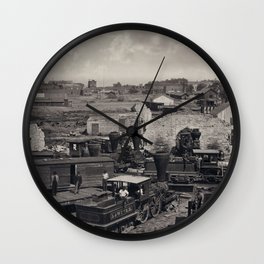 Civil War, Atlanta Roundhouse destroyed, 1866  Wall Clock