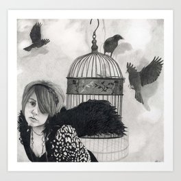 Bird Girl Art Print