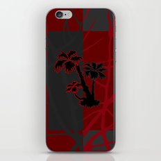 Red and Grey Silhouette Palm Tree iPhone & iPod Skin