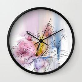 Beautiful flower arrangement Wall Clock