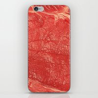 meat iPhone & iPod Skins featuring Meat by Norms