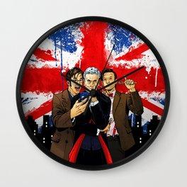 British Tardis Selfie Wall Clock
