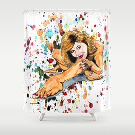 Foot care Shower Curtain