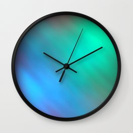 Mystic - Green and Blue Wall Clock