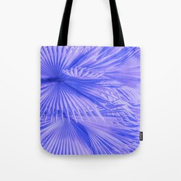 Lilac Purple Tropical Palm Leaves With Blue Accents Tote Bag
