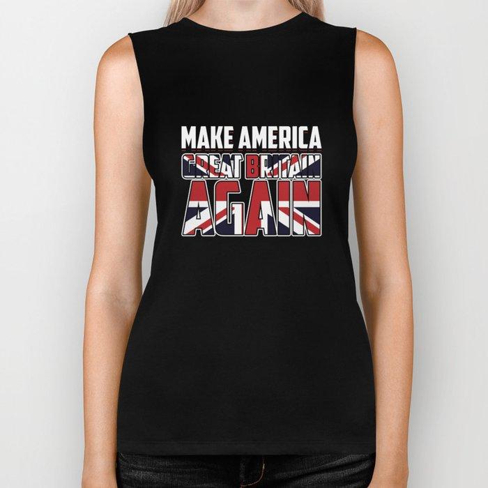 Union Jack America United Kingdom Flag Biker Tank