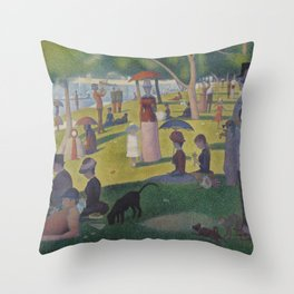 A Sunday Afternoon on the Island of La Grande Jatte (High Resolution) Throw Pillow