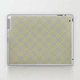 Simply Mod Diamond Mod Yellow on Retro Gray Laptop & iPad Skin