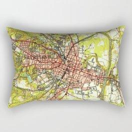 Vintage Map of Fayetteville North Carolina (1948) Rectangular Pillow
