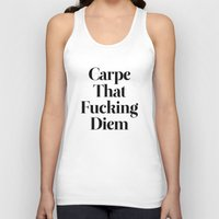 drawing Tank Tops featuring Carpe by WRDBNR