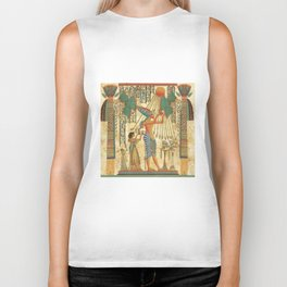 egyptian man sun god ra amun Biker Tank