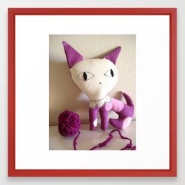 Purple Kitty Framed Art Print