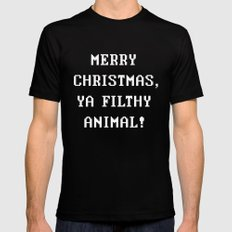 Home Alone – Merry Christmas, Ya Filthy Animal! Black LARGE Mens Fitted Tee