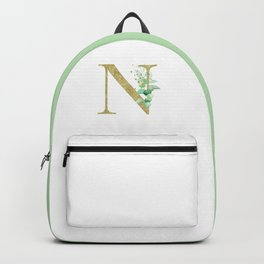 Letter N Monogram Backpack