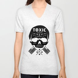 Toxic Supply Co., Made in America.  Unisex V-Neck