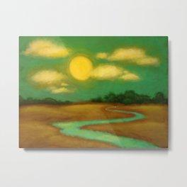 Sunny River Metal Print