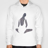 yoga Hoodies featuring yoga by Maybe Mary