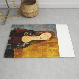 """Amedeo Modigliani """"Jeanne Hebuterne, seated"""" Rug"""