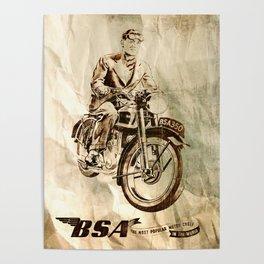 BSA - Vintage Poster Poster