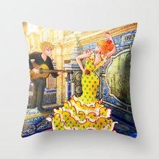 Spain Travel Throw Pillow