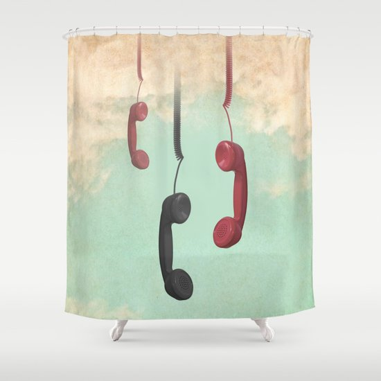 Message from Above Shower Curtain