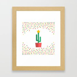 Christmas Cactus Framed Art Print