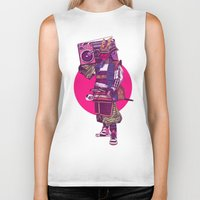 samurai Biker Tanks featuring Hip-Hop Samurai by Mike Wrobel