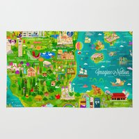 narnia Area & Throw Rugs featuring Imagine Nation by Kitkat Pecson