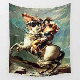 France's Napoleon Crossing the Alps Wall Tapestry