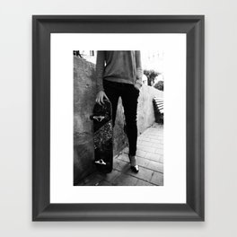 SkateBoard Girl Framed Art Print